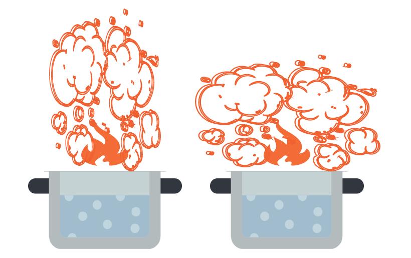 Wrasen bei heissem und kaltem Kochfeld